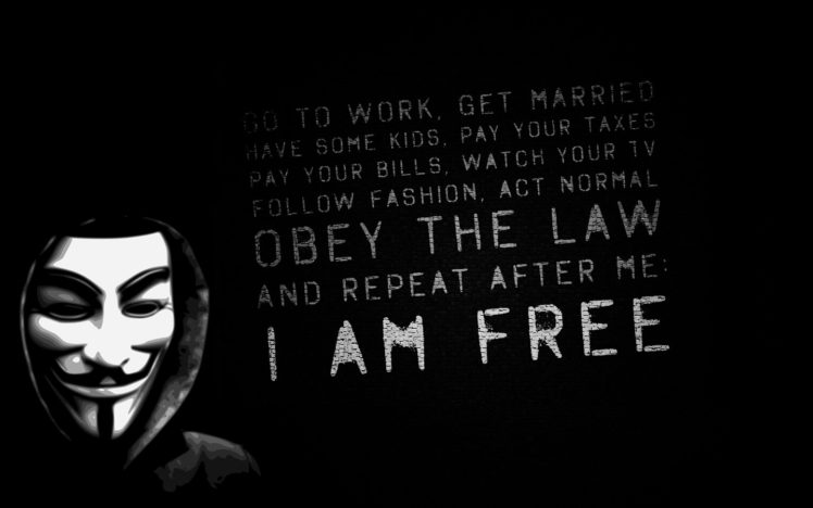 Kali Linux Quote Wallpaper Anonims I Am Free Wallpapers Hd Desktop And Mobile