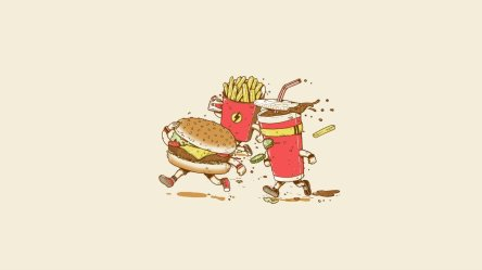 food fries burger fast french burgers cartoon wallpapers cute desktop hd minimalism hamburger background cola px backgrounds