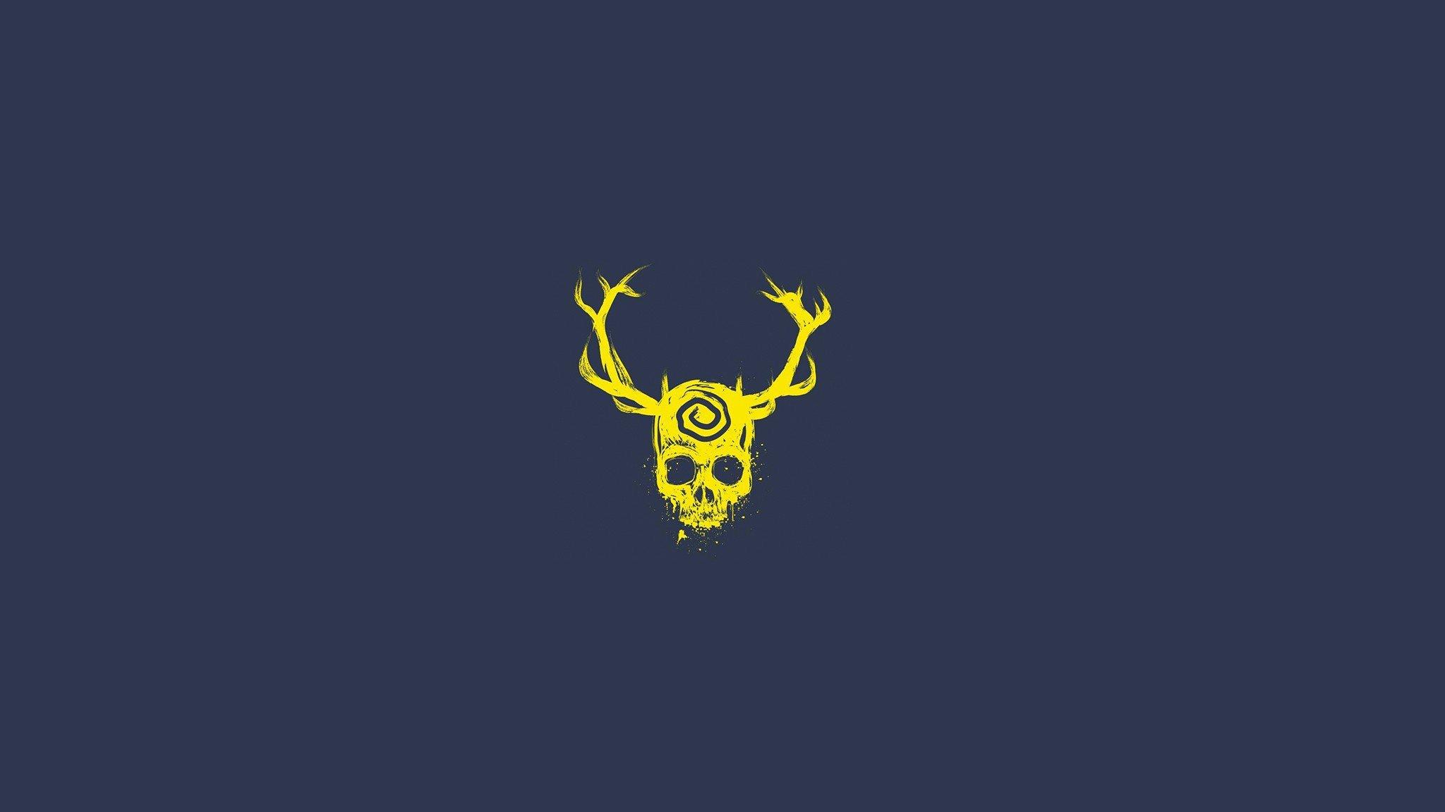 Skyrim Iphone X Wallpaper Skull Yellow Dark Blue True Detective Wallpapers Hd