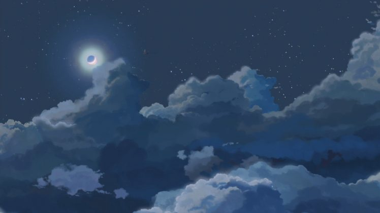 moon clouds night wallpapers