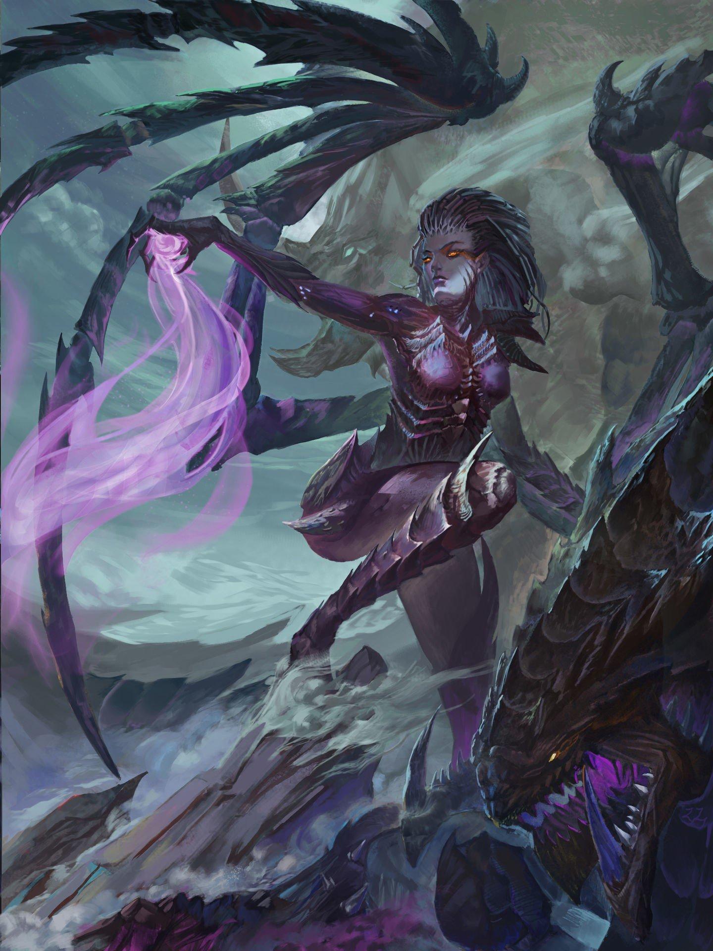 World Of Warcraft Wallpapers Hd Sarah Kerrigan Fantasy Art Magic Video Games Hydralisk