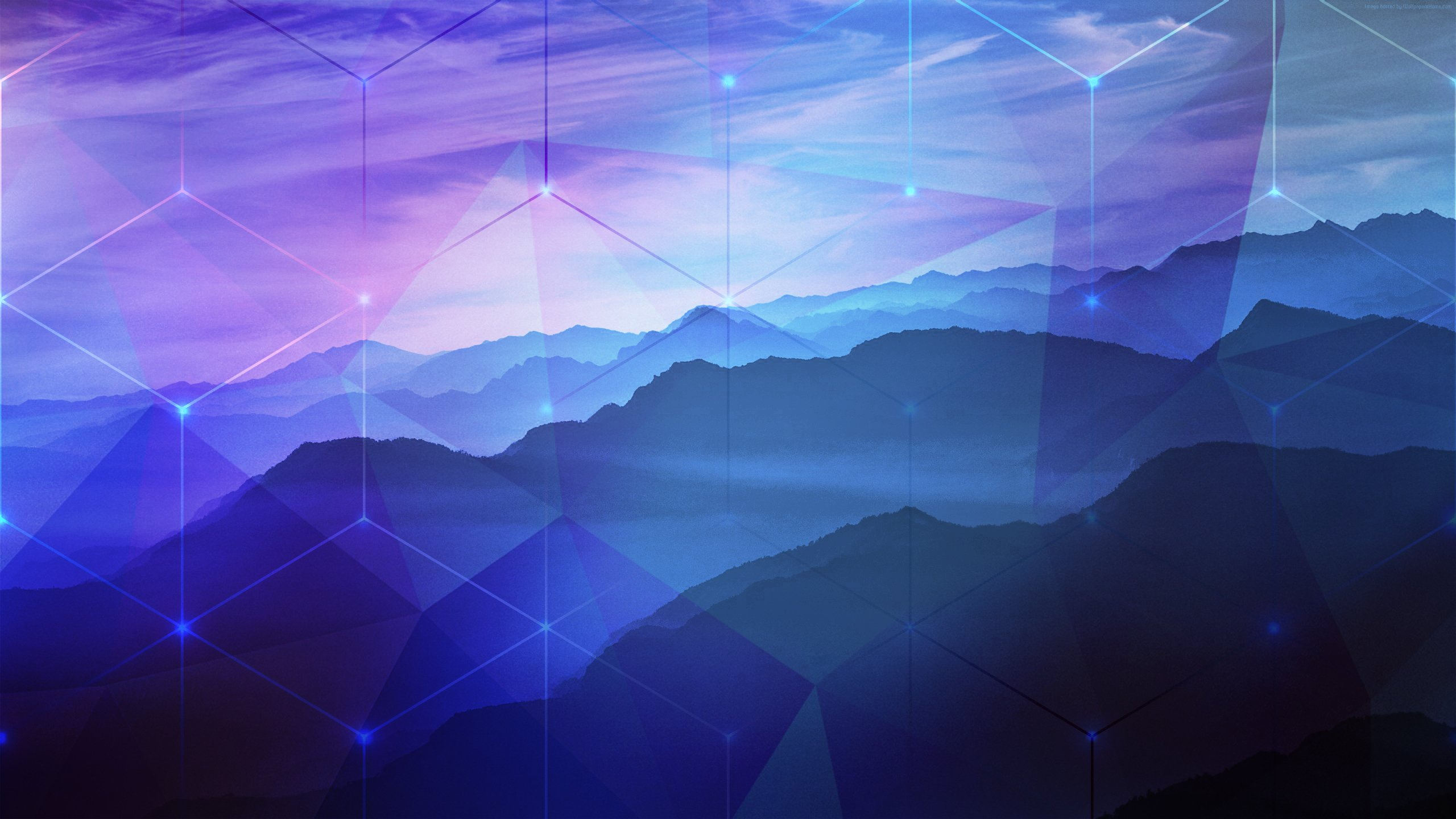 Cool Girls Overwatch Wallpapers Blue Purple Mountains Hexagon Photoshop 2k Peaceful