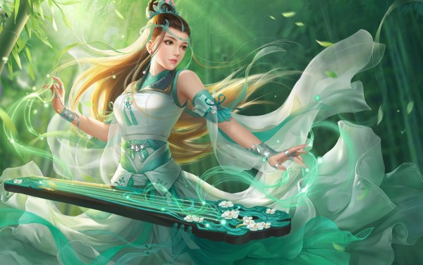 Fantasy Girl Art Wuxia Chinese Dress Wallpapers