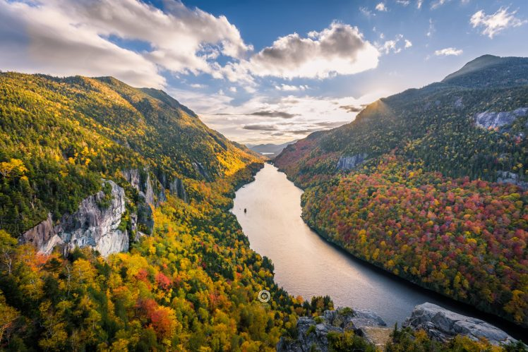 National Geographic Wallpaper Fall Foliage Adirondack Mountains New York State River Mountains