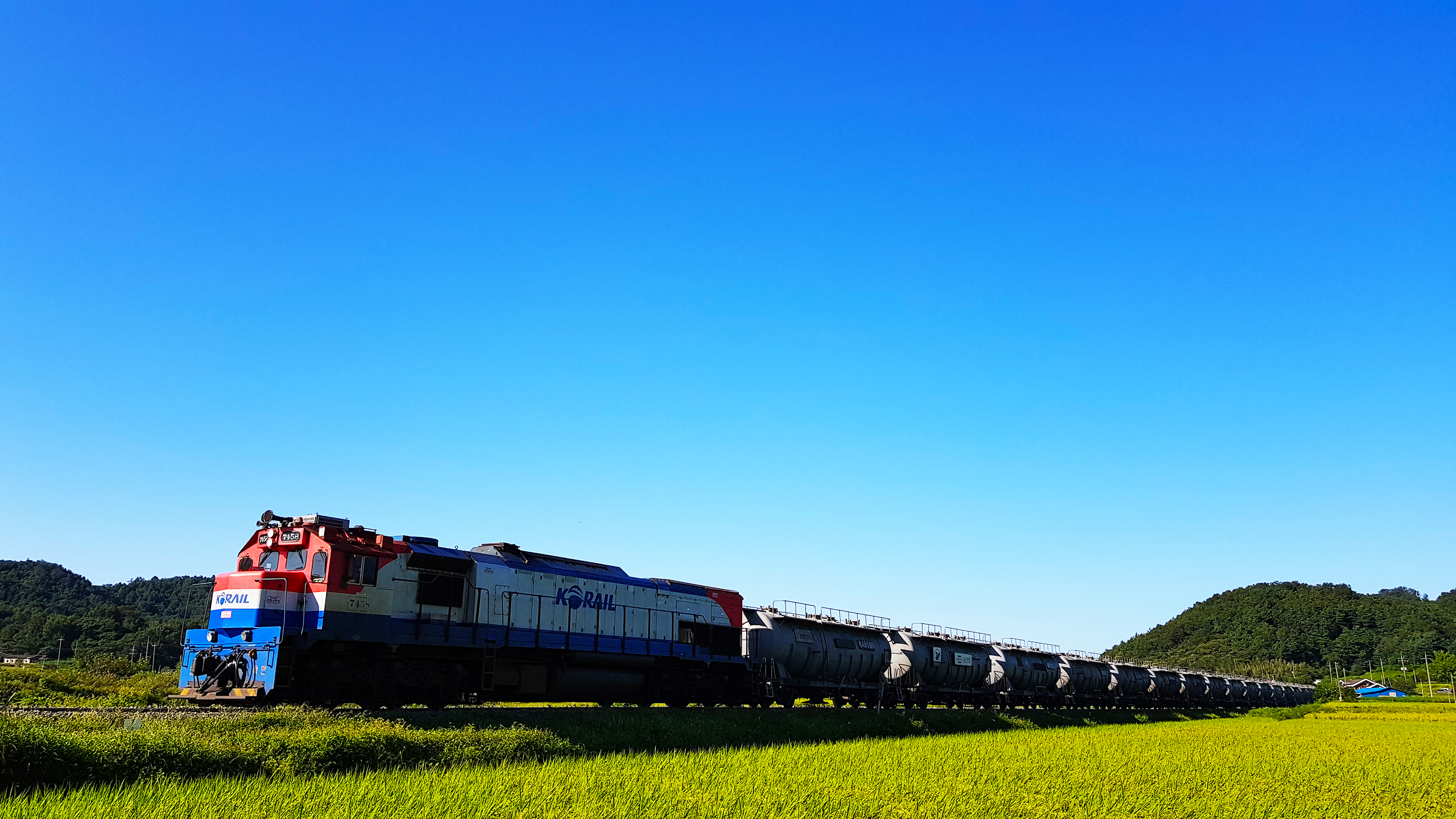 Animal Farm Wallpaper Train Freight Train South Korea Farm Landscape
