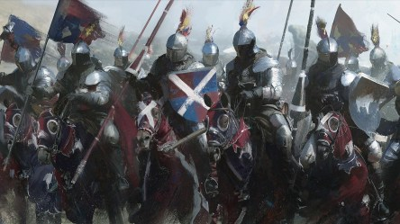 knight medieval knights lance cavalry painting banner spear shield armor artwork colorful horses hd background wallpapers desktop fantasy wallpapermaiden resolution