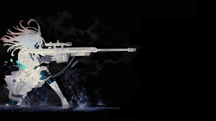 Pubg Dual Monitor Wallpaper  Anime Sniper Rifle Anime Girls Kozaki Yuusuke