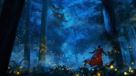 anime fantasy fantasia forest hd desktop wallpapers background backgrounds px resolution tags