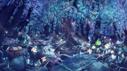 magical forest fantasy magic neon animals glow fantastic colorful desktop hd wallpapers backgrounds