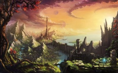 fantasy landscape artwork nature resolution land hd background mobile wallpapers desktop android backgrounds wall px posted tags