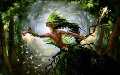 art Artwork Fantasy Magical Forest Original Magic Creature Wallpapers HD / Desktop and Mobile Backgrounds