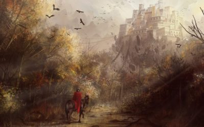 medieval trees drawing knight castle birds background hd wallpapers desktop px resolution mobile backgrounds tags