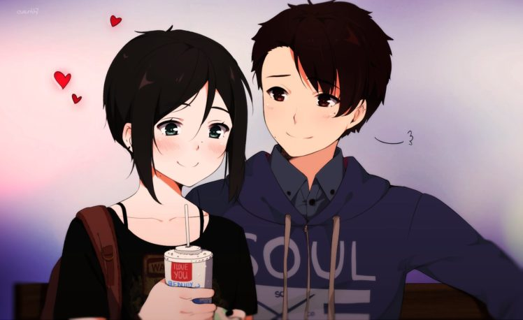 Anime Couple Love Cute Girl Boy Wallpapers Hd Desktop And Mobile Backgrounds
