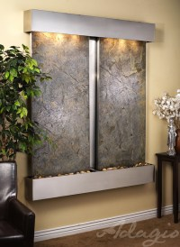 slate wall water features | Wall Water Features and Fountains