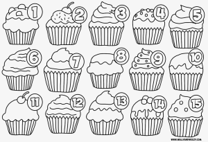 cupcakes-coloring-page