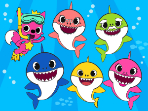 Baby Shark oloring Pages plush video of Wally coloring
