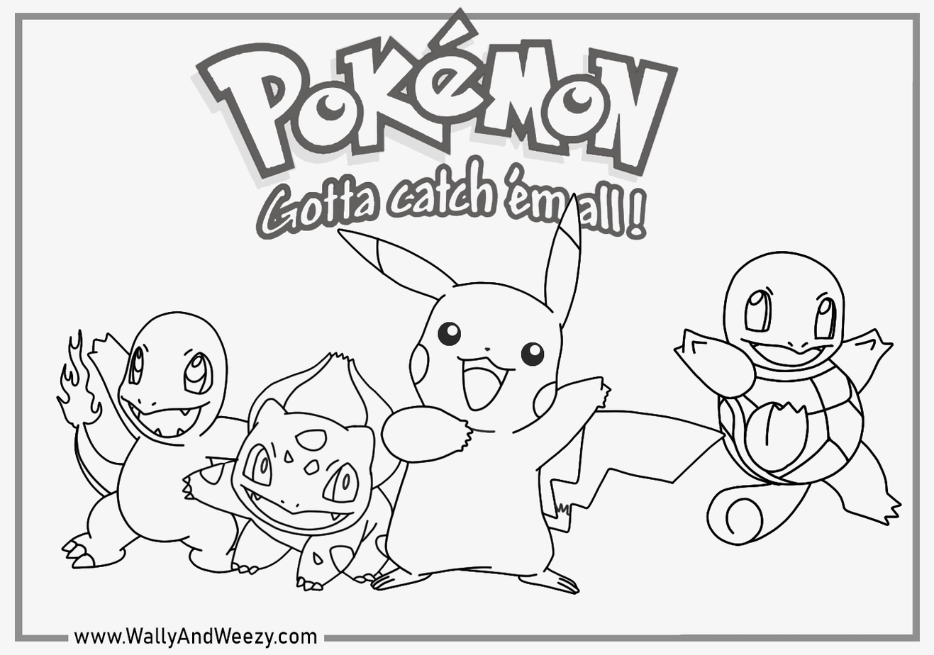 watch wally color pikachu bulbasaur squirtle and charmander!