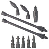 Powerwasher 80003 Universal Pressure Washer Gutter/Eave/Undercarriage Cleaning Accessory Kit