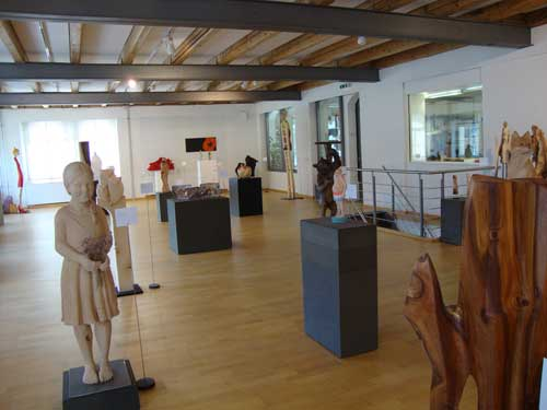Swiss Woodcarving Museum exhibit area