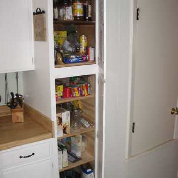 A Painted, Installed Kitchen Pantry