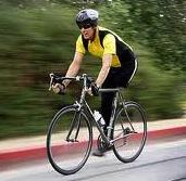 one legged biker