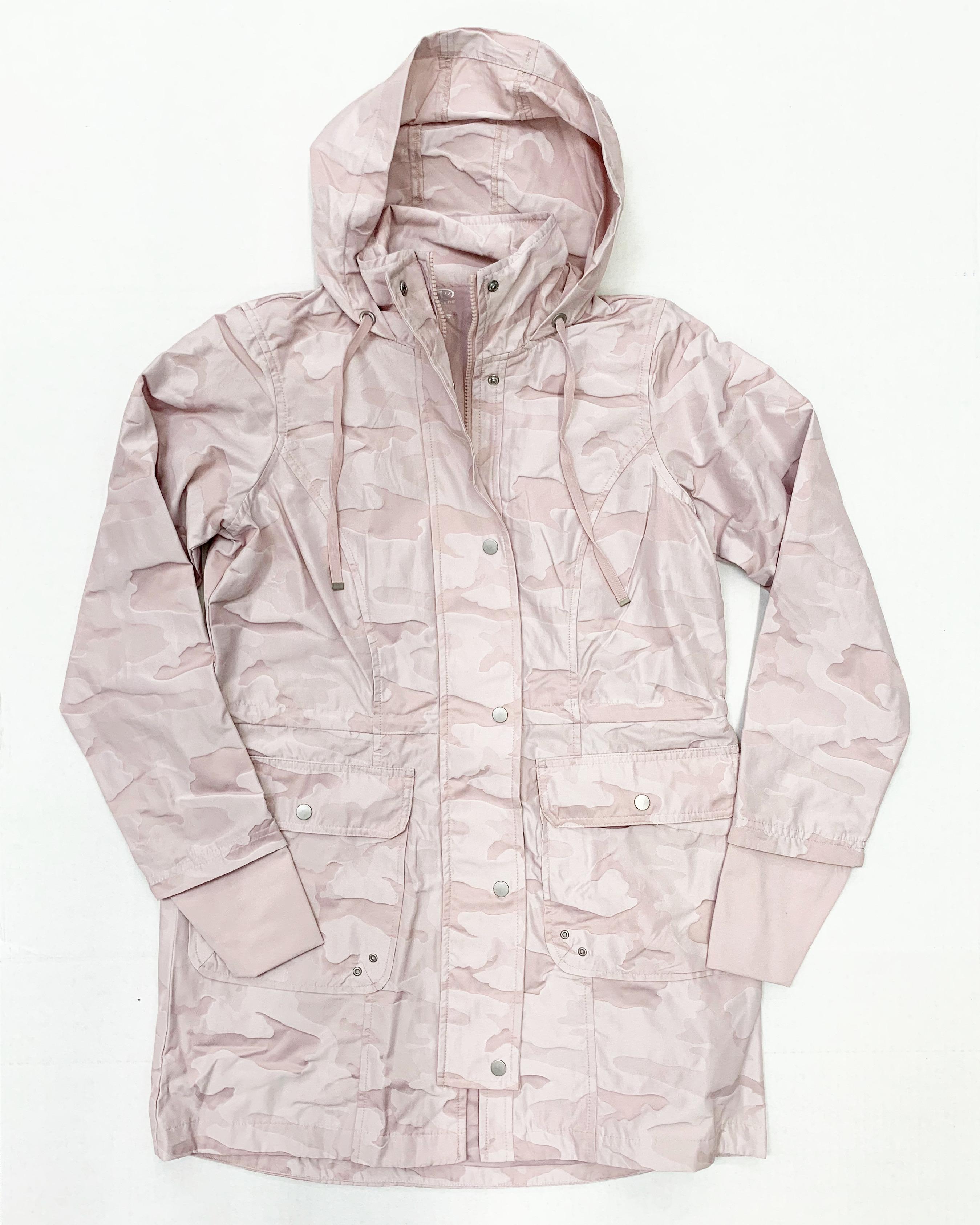 blush pink camo anorak jacket