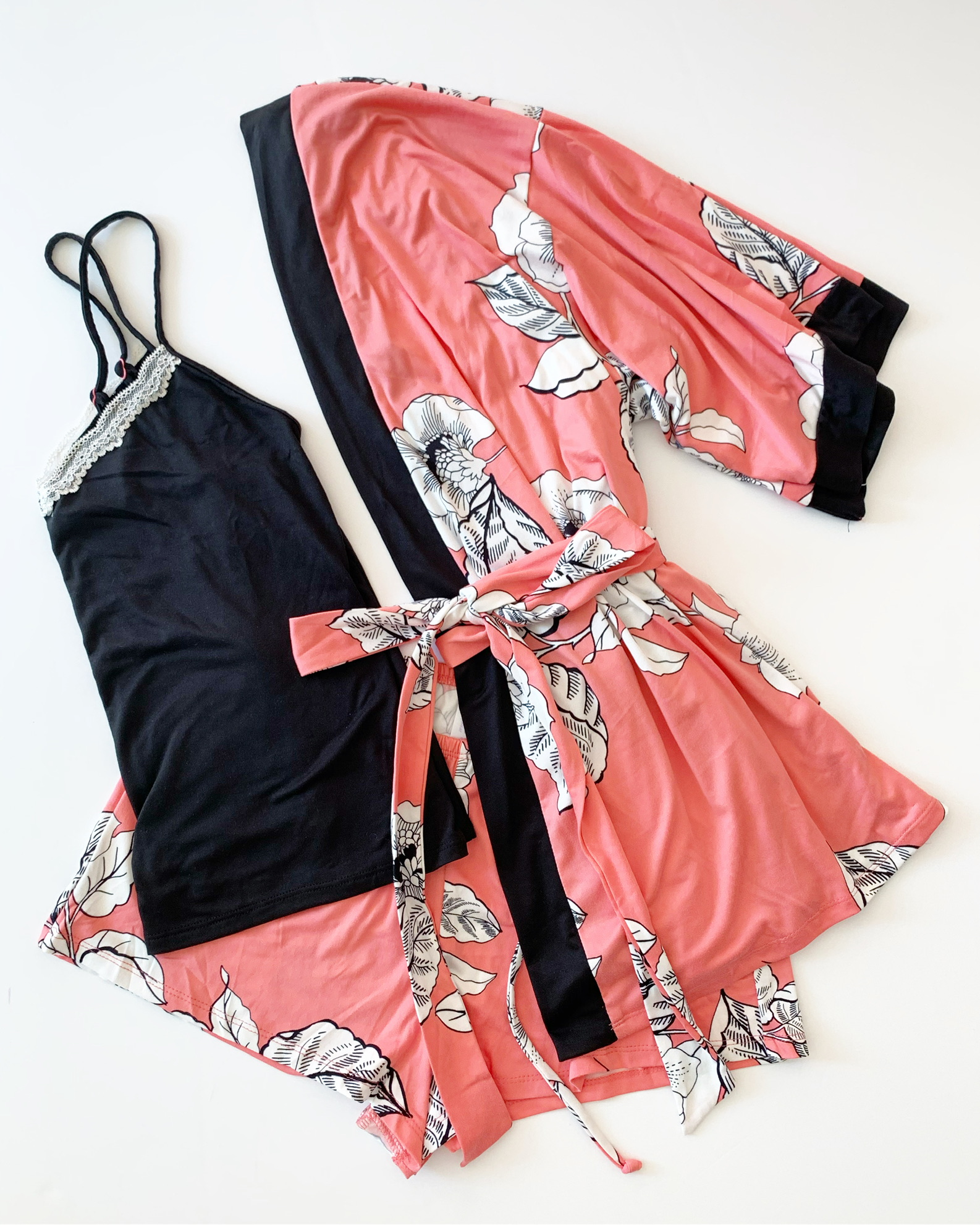 secret treasures cami and short set with matching robe