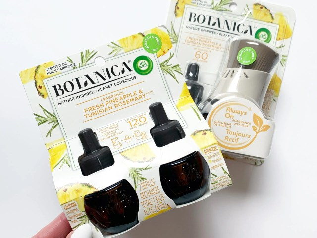 Botanica by Air Wick Plug in Refill Fresh Pineapple and Tunisian Rosemary at Walmart