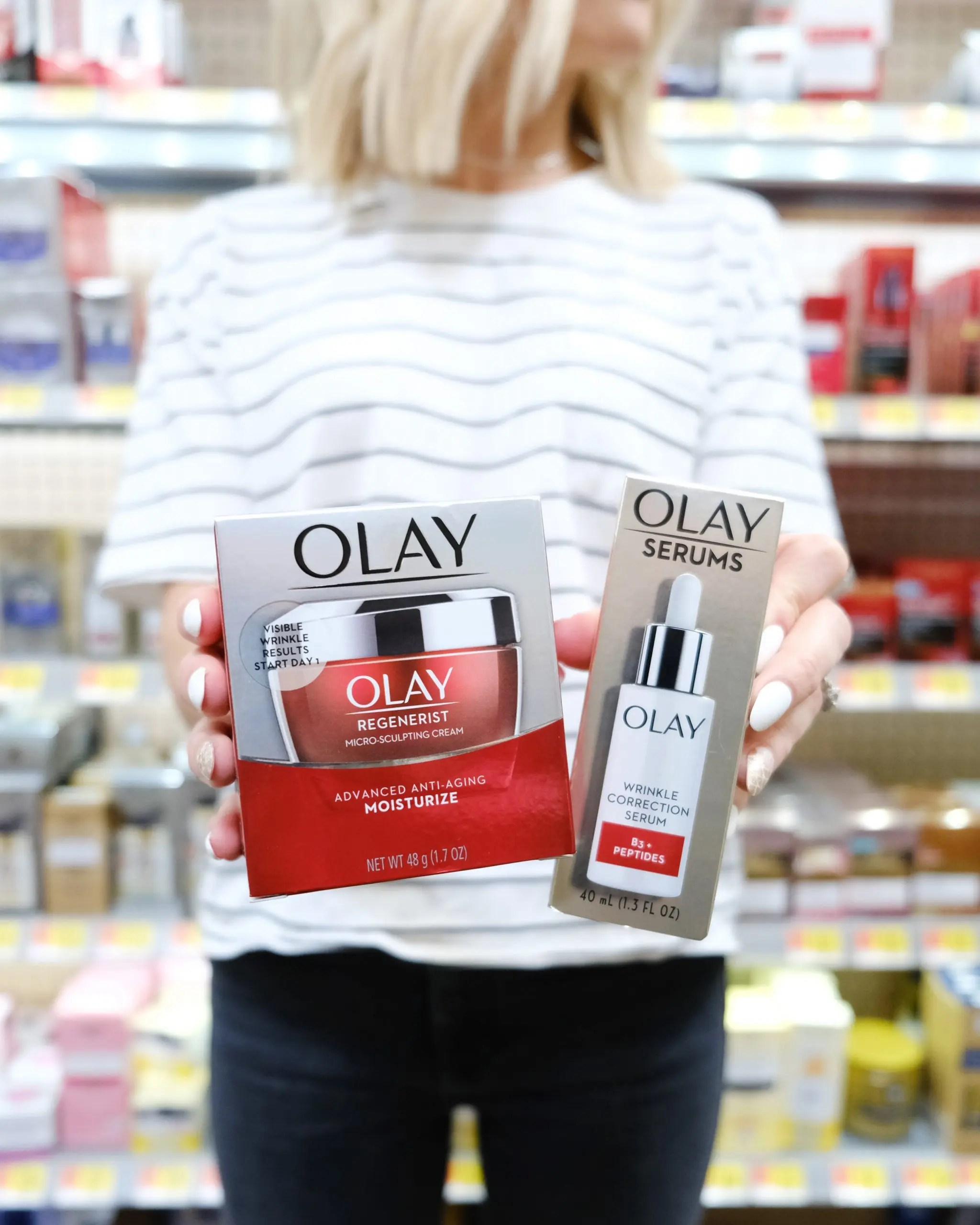olay micro-sculpting cream and wrinkle correction serum