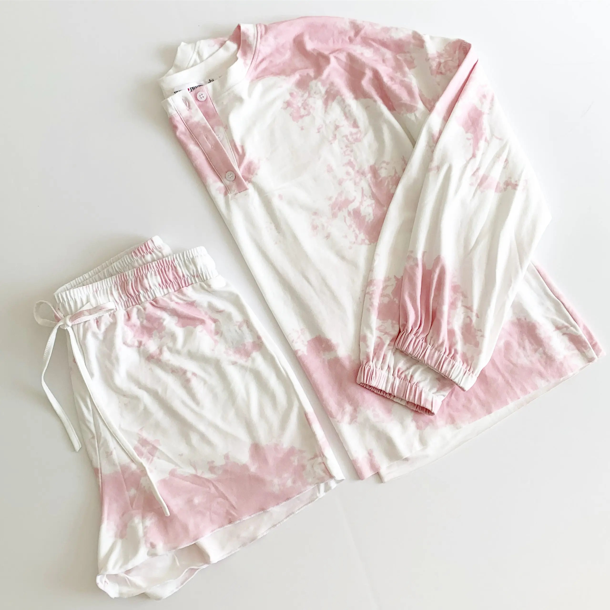ever-pretty pink tie dye pajama set