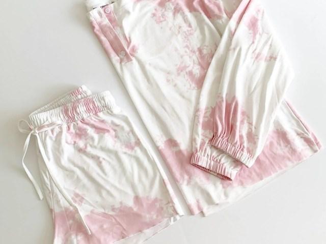 Ever-Pretty Tie Dye Pajama Set