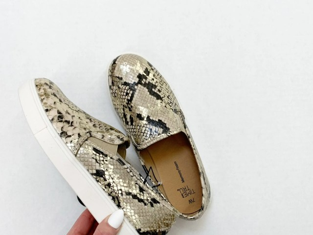 Time and Tru Snake Print Slip-On
