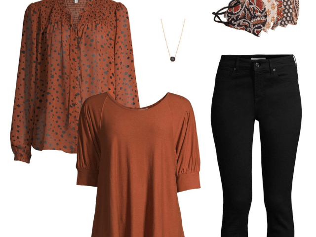Fall Outfit Ideas – Time and Tru Peasant Top + New Face Masks and More