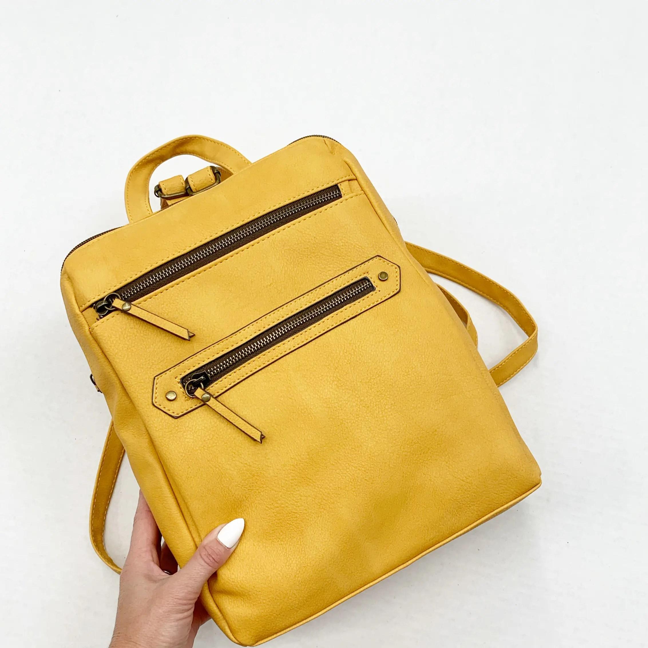 Time & Tru Cucamonga Backpack, Mustard