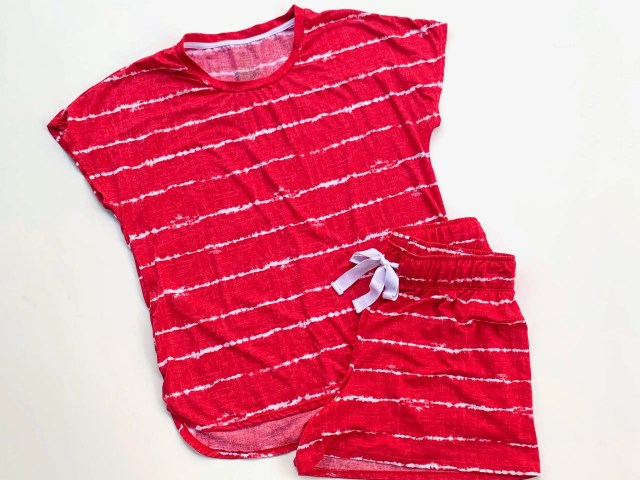 Secret Treasures Shibori Stripe Pajama Set