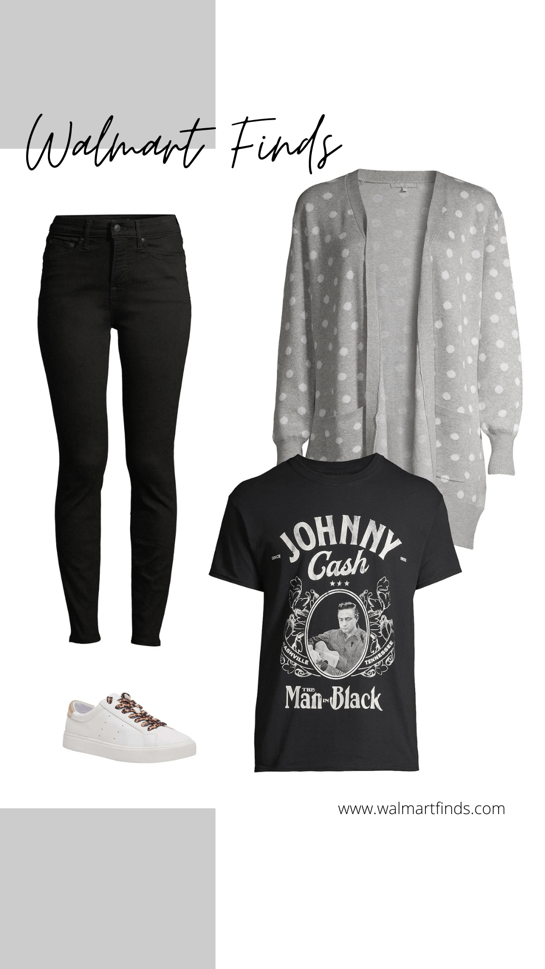 heart n crush dot cardigan, free assembly skinny jeans, steve madden sneakers