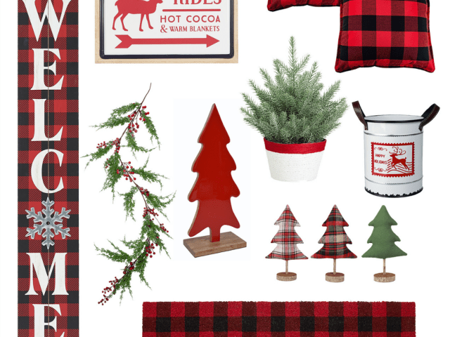 Red Buffalo Plaid Christmas Decor