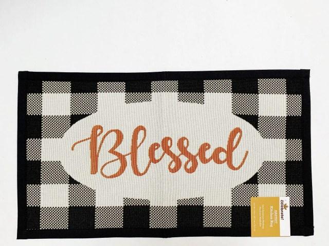 Way To Celebrate Blessed Buffalo Plaid Kitchen Mat