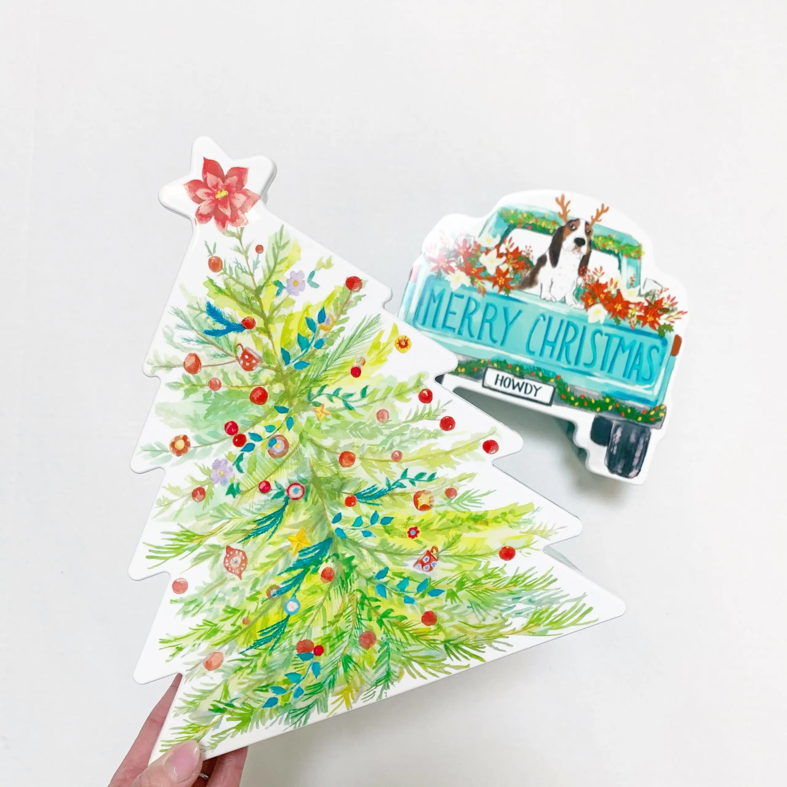 The Pioneer Woman Figural Truck and Tree Shaped Cookie & Treat Container