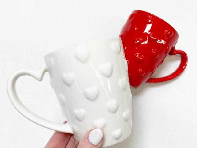 Way To Celebrate Embossed Heart Mug