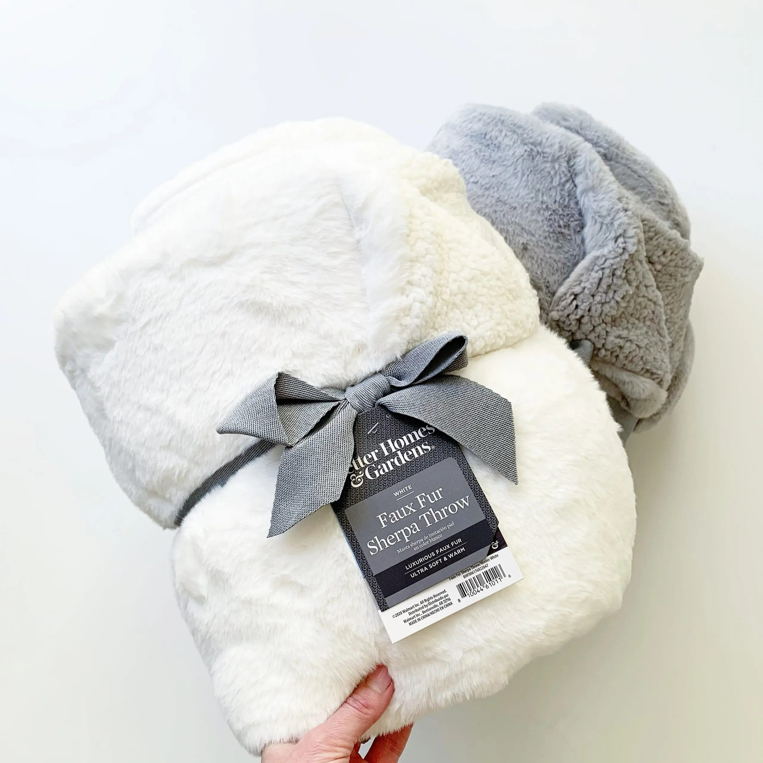 Better Homes and Gardens Faux Fur and Sherpa Throw