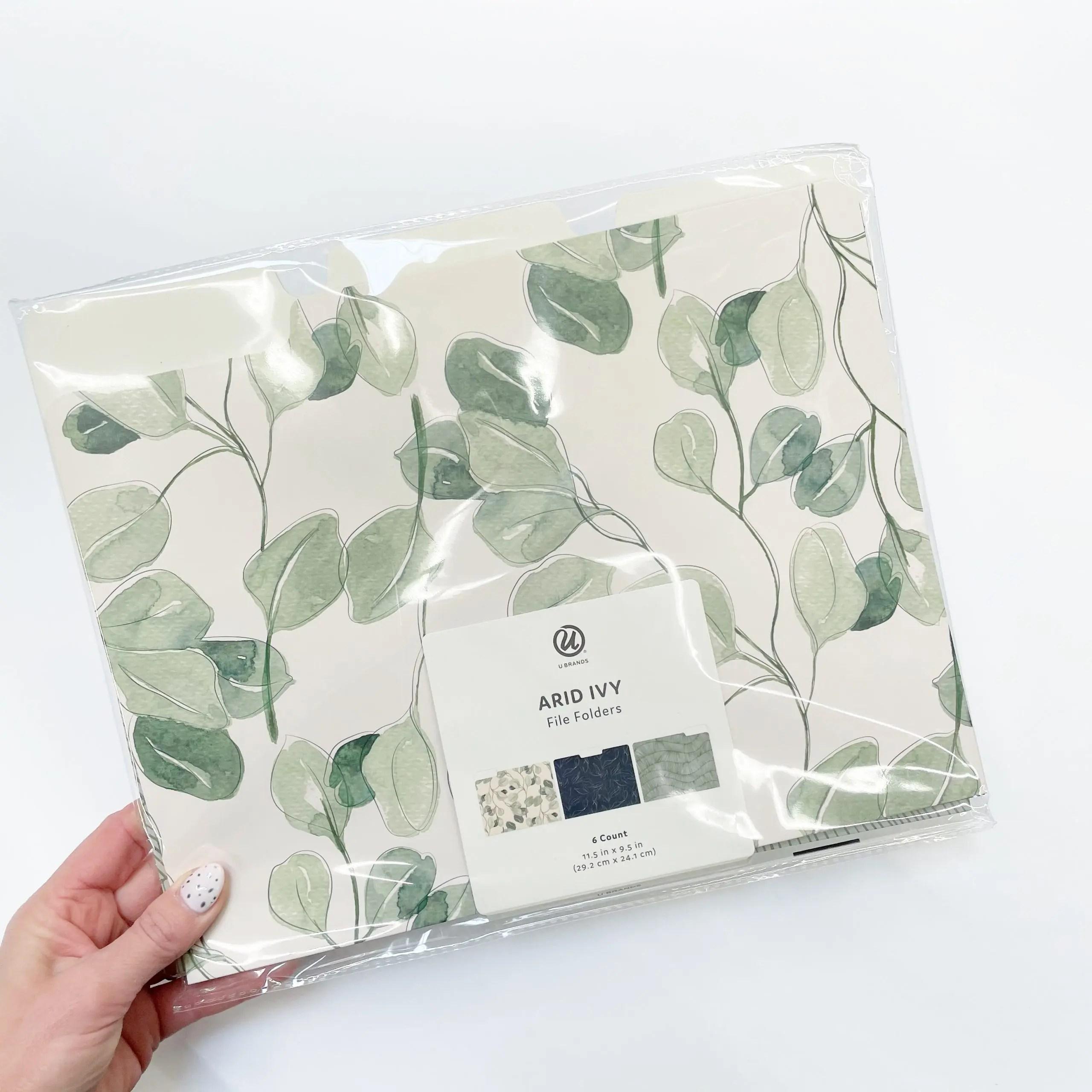 U Brands Arid Ivy File Folders