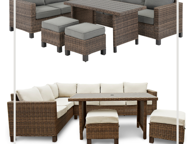Better Homes and Gardens Brookbury 5-Piece Patio Wicker Sectional Set