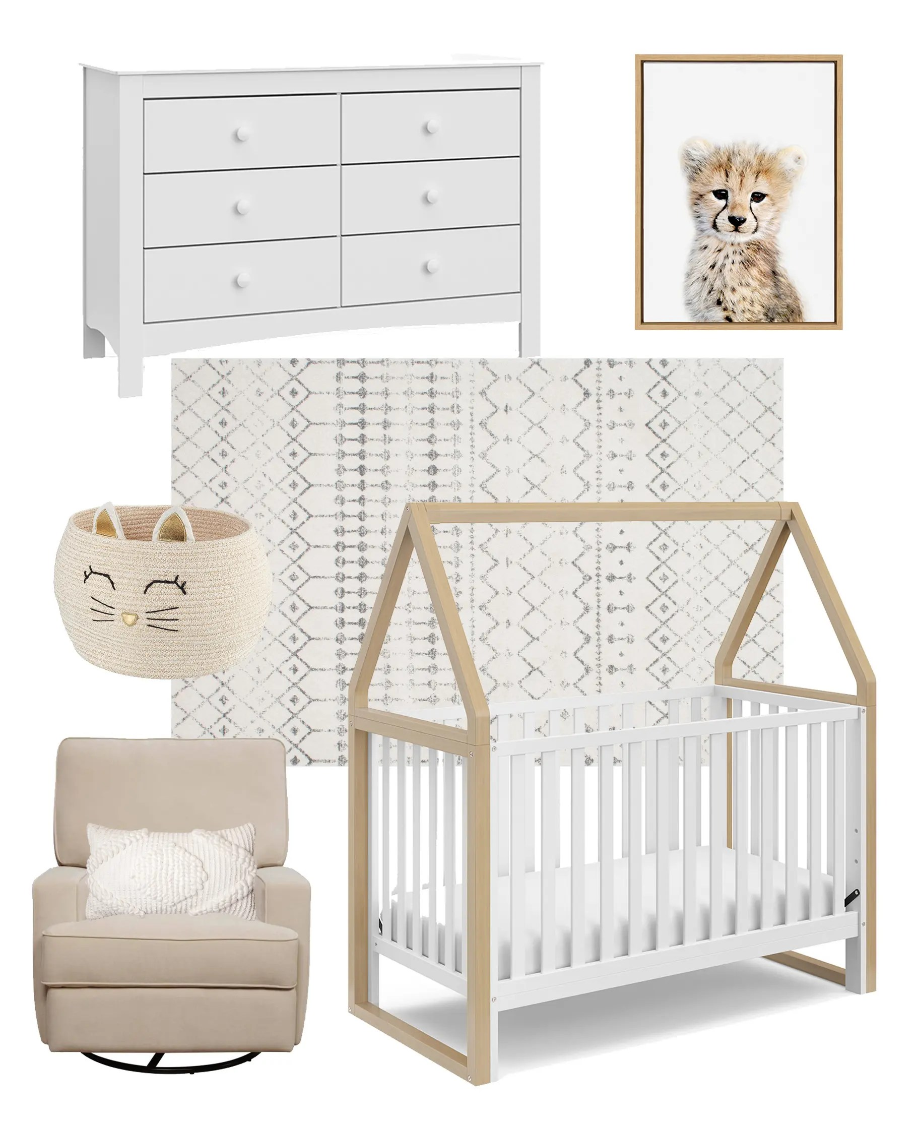 Affordable Neutral Nursery Ideas at walmart