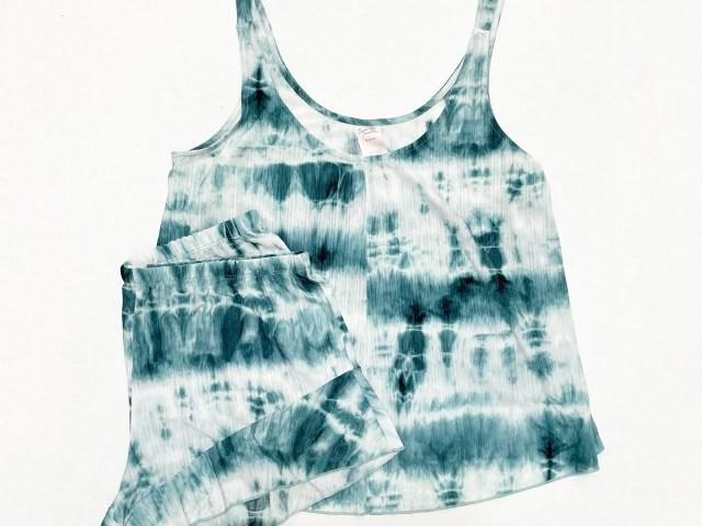 Secret Treasures Tie-Dye Knit Cami Sleep Set