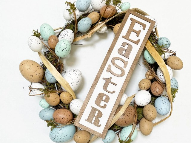 Way to Celebrate 20″ Easter Natural Egg Wreath