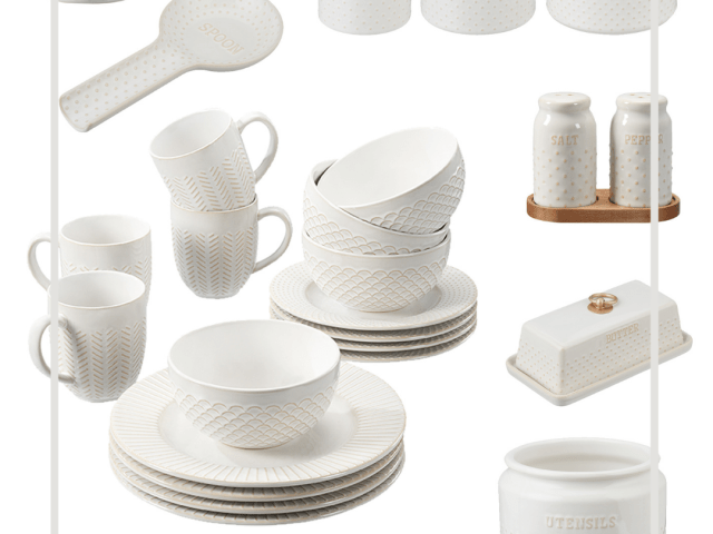 Better Homes and Gardens Modern Farmhouse Dotted Kitchen Accessories
