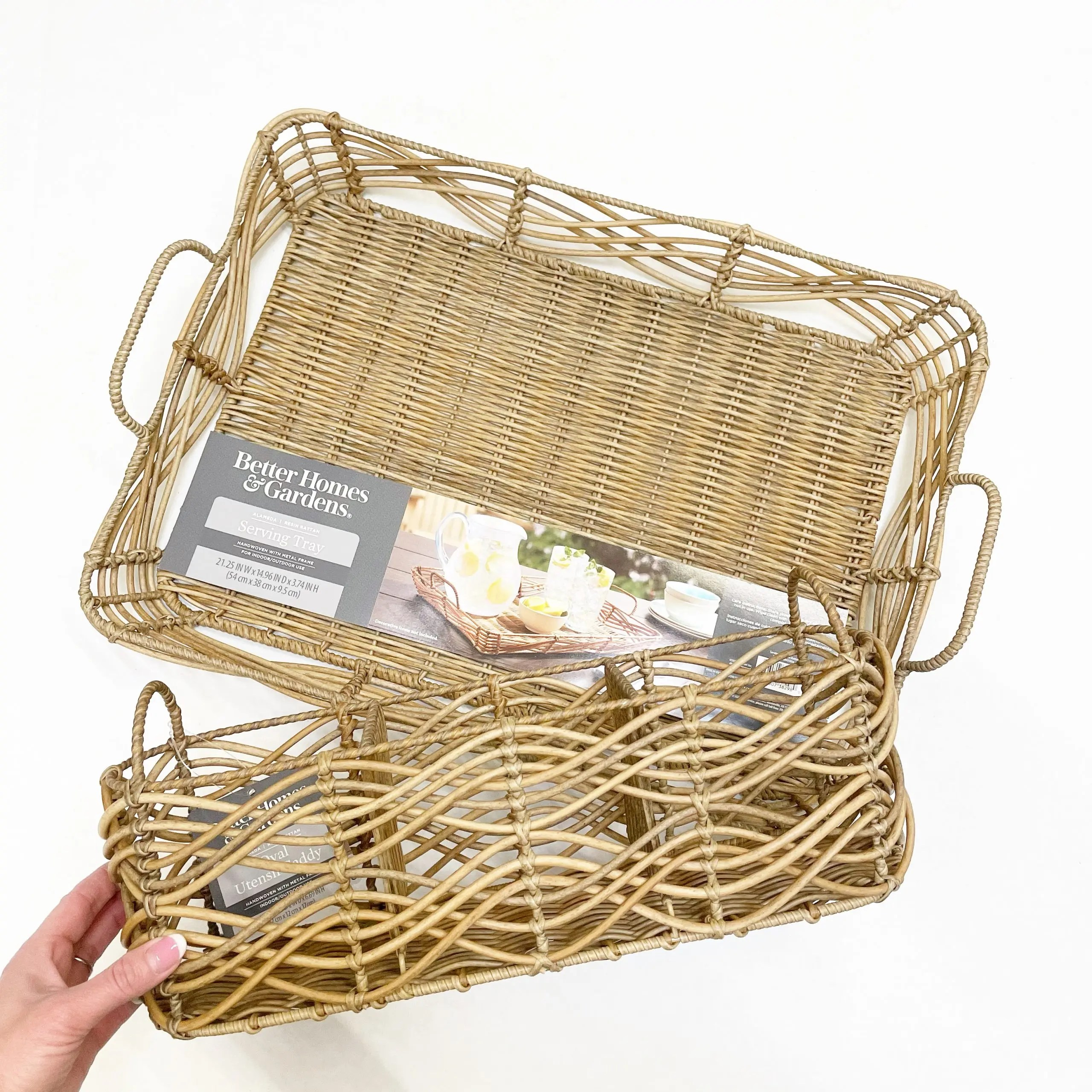 Better Homes & Gardens Alameda Serving Tray and Utensil Caddy