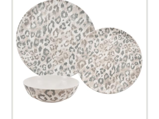Better Homes & Gardens Leopard Print Melamine Outdoor Dinnerware