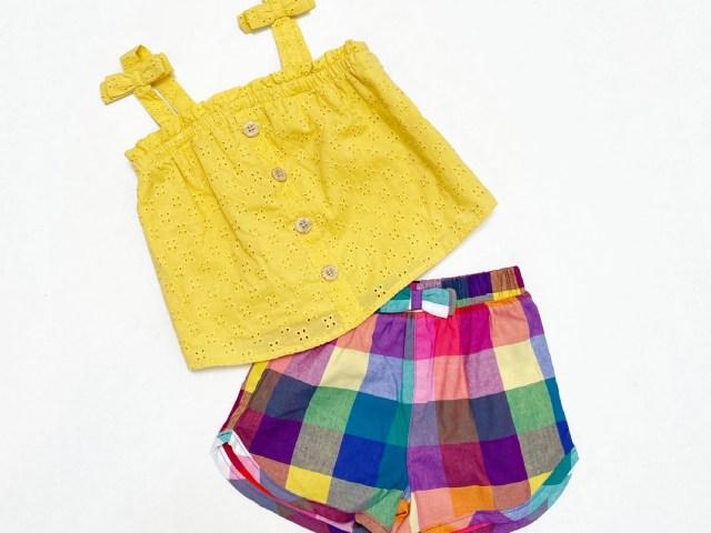 Wonder Nation Baby & Toddler Girls' Tank Top and Shorts Set